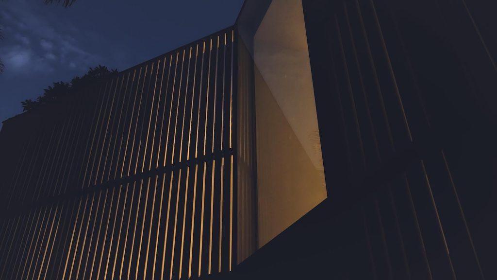 Stack Street screen at night